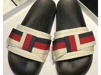Gucci Inspired Bow Sliders 38 European