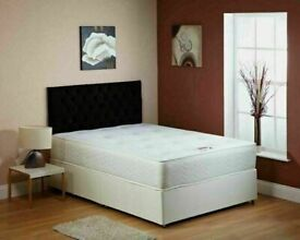 🔵💖🔴COLORS OPTIONS🔵💖🔴DIVAN SINGLE-DOUBLE-SMALL DOUBLE & KING SIZE BED BASE w MATTRESSES