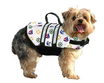Paws Aboard Designer Dog Pet Life Jacket Vest NAUTICAL Print in 5 - Designer Dog Life Jacket