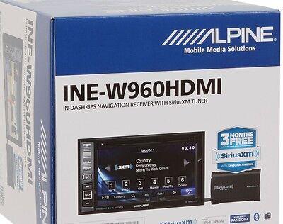 """NEW Alpine INE-W960HDMI 6.1"""" In-Dash DVD/GPS Navigation Receiver +SiriusXM Tuner"""