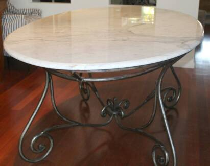 Le Forge 39 Paris 39 Forged Steel And Marble Dining Table Indooroopilly B