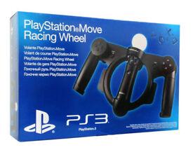 Play Station 3 Move Racing Wheel PS4 . Brand NEW