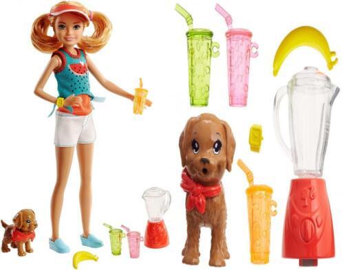 NEW! 2018 Barbie Sisters' Stacie Fashion Doll Fruit Juice Pl