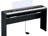 Yamaha P95-B with pedal and L-85 stand