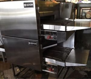 DOYON FC18 double stack conveyor gas pizza ovens