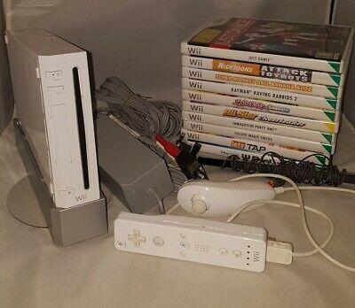 Nintendo Wii Console Bundle With 10 Games Kids Children