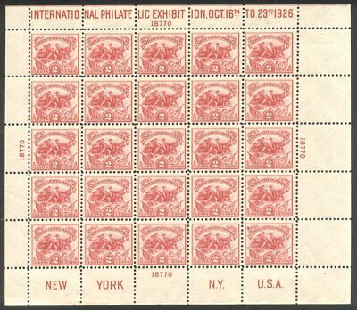 U.S. #630 Mint NH BEAUTY - 1926 White Plain Sheet