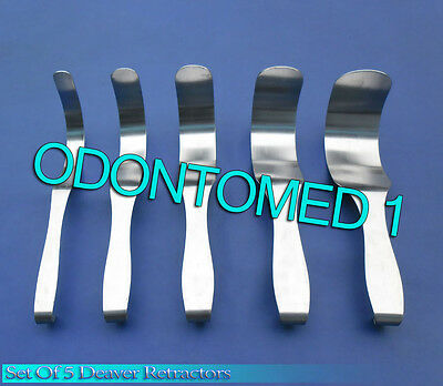 Set Of 5 Deaver Retractor Surgical Medical Instruments