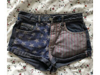 Topshop denim shorts w26