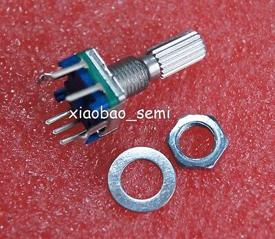 10pcs Ec11 Rotary Encoder Switch Audio Digital Potentiometer 20mm Knurled Shaft