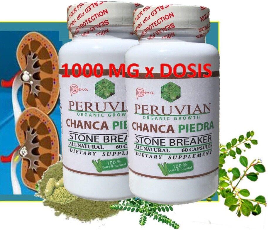 CHANCA PIEDRA Pure Stone Breaker 1800mg Urinary Tract Removes Impurities 120 cap 2