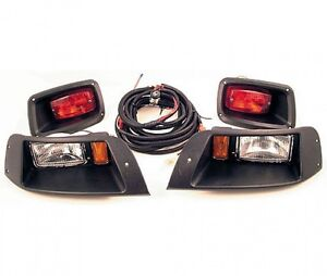 EZ-GO-TXT-Golf-Cart-Adjustable-LIGHT-KIT-w-LED-Tail-Lights-Halogen-Headlights