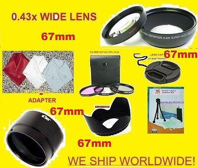 JJC 22pcs Set: 0.43x Wide Angle Lens 67mm+adapter Sony Ds...