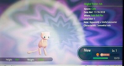 Pokemon Let's Go - Pokeball plus Mew in-game trade... Controller not Included