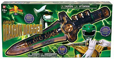 Bandai POWER RANGERS Limited Edition Legacy Dragon Dagger Green Ranger Brand New