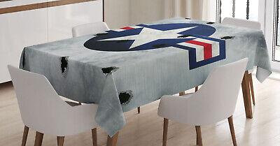Flugzeug Tischdecke, Stern auf runden Kreis Pflegeleicht