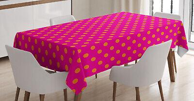 Rosa und orange Tischdecke, Polka Dots Design Klare Farben