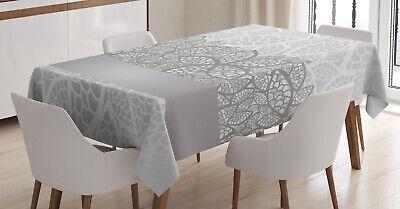 Grau Tischdecke, Lace Inspired Floral Design