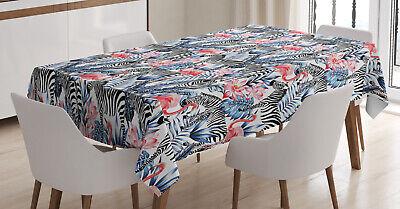 Aquarell Tischdecke, Flamingo mit Zebra Wasserfest
