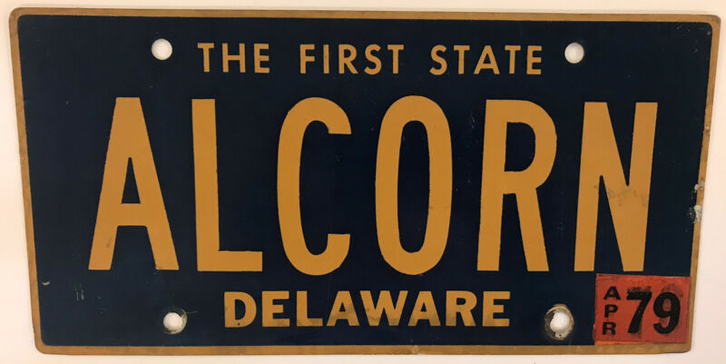 DE vanity ALCORN CORN license plate Mississippi County Corinth University Jazz