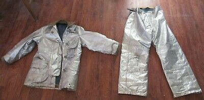 Aluminized - Janesville Of Lion Apparel Jacket And Quaker Pants - Used - As Is