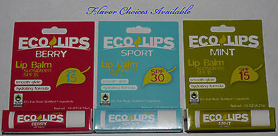 Eco Lips SPF 15 or SPF 30 Hydrating Lip Balm .15 oz **flavor choices available