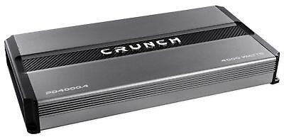 Crunch Pd4000 4 4000 Watt 4 Channel Pro Power Car Audio Amplifier Class Ab Amp