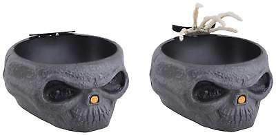 Süssigkeiten Schale Totenkopf m. Licht Sound Halloween Grusel - Halloween Süßigkeiten
