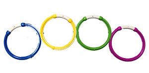 4 x  Weighted Dive Rings Swimming Pool Retrieval Game Toy
