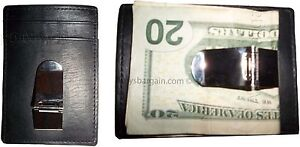 2 Leather Money Clip, Credit card/ID holder, wallet with a metal money clip BNWT