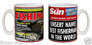 Personalised-The-SUN-Newspaper-BEST-FISHERMAN-In-The-World-Mug-Gift-Fishing