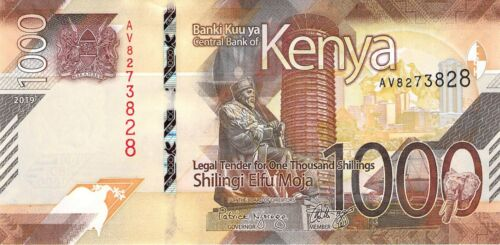 UNC Kenya 1000 Shillings 2019 P-NEW - Combine Low Shipping Charge Free