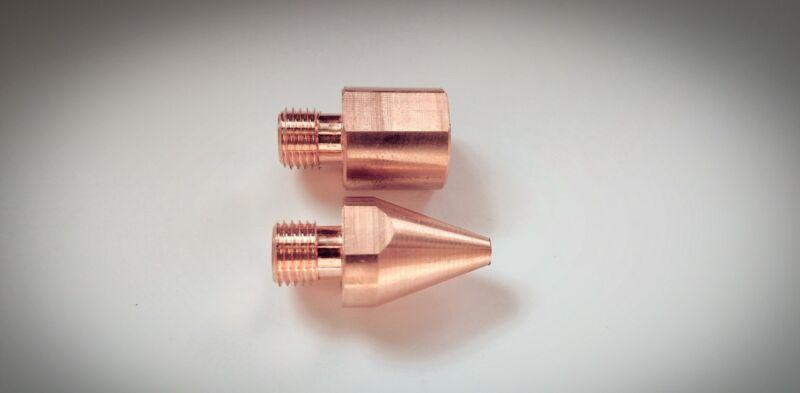 1 pair Spot Welder FLAT Tips #TnT040212 for Miller, TT-6, TT-9 & G7 Welding Tong