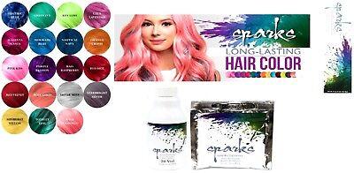 Sparks Hair Color Dye LALA LAVENDER, NIGHT INDIGO, PURPLE PASSION, SILVER MIST