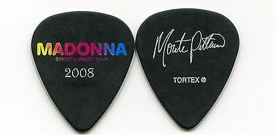 MADONNA 2008 Sticky Sweet Tour Guitar Pick MONTE PITTMAN custom concert stage #1