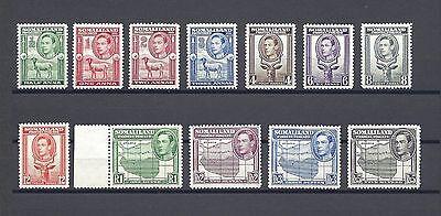 SOMALILAND 1938 SG 93/104 Mint Cat £150