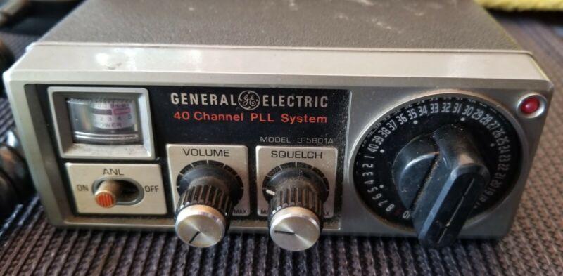 General Electric 40 Channel PLL System Model 3-5801A CB Transceiver * Vintage