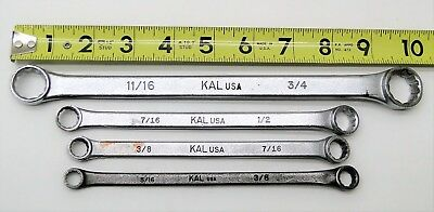 4 Pc Kal Usa Double End Box Wrench 12 Point Set 1116 Thru 38
