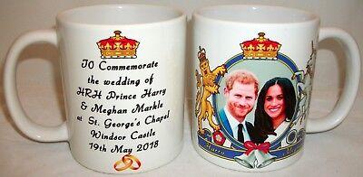 Prince Harry & Meghan Markle Royal Wedding Coat of Arms Coffee Tea 11 oz Mug