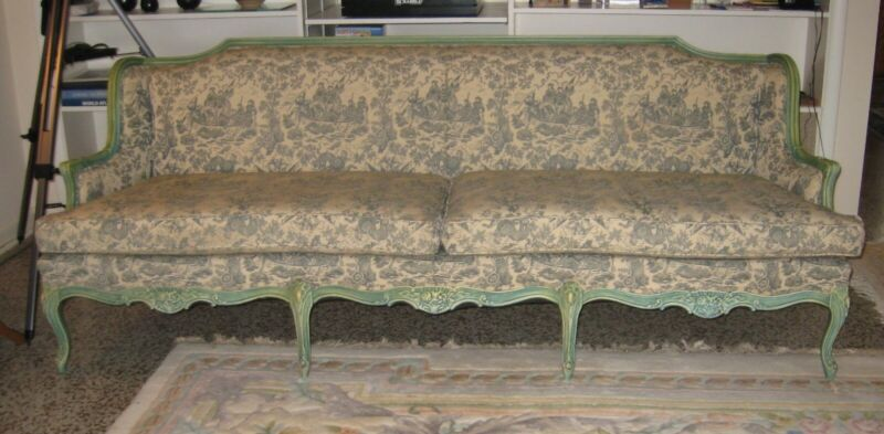 French Country Sofa with Washington Crossing The Delaware