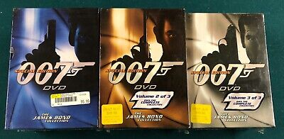 The James Bond Collection 007 Special Edition DVD Set Volume 1 2 & 3 NEW
