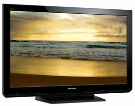 42 inch Panasonic Plasma tv for sale, looks as new with a glass table