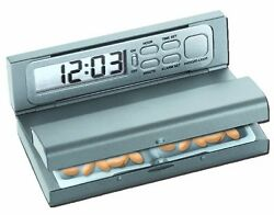 NEW ~ Lot of 5 Natico 10-405 Travel Pal Alarm Clock & Pill Box ~ Free Shipping