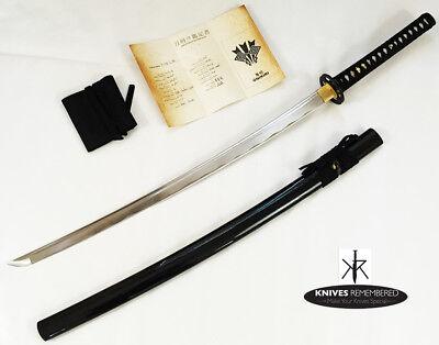 """40"""" Full Tang Japanese Katana Handmade Sword w/ Musashi Tsuba and Sword Bag NIB"""