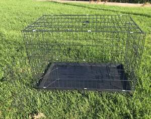 """36"""" Large Cat Dog Puppy Pet Cage Kennel Collapsible Metal Crate T"""