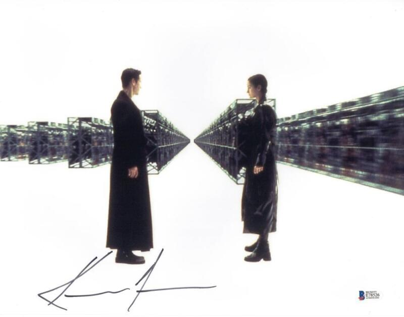 KEANU REEVES SIGNED 11X14 PHOTO THE MATRIX AUTHENTIC AUTOGRAPH BECKETT COA F