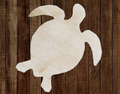 SEA TURTLE Unfinished Wood Cutout DIY Crafts Door Hanger Paintable Wreath Beach