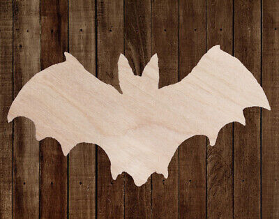 BAT HALLOWEEN Unfinished Wood Cutout Cut Out Shapes Painting Crafts ALL SIZES (Bat Cut Outs)