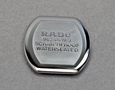 Genuine Rado Ladies Original Quartz Case Back Cover Cap & Gasket Ring 963.0419.3, used for sale  Shipping to India
