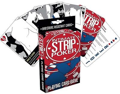 Intimate Strip Poker playing card game (nm)